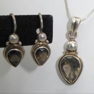 Jewelry - Sterling Earrings and Necklace